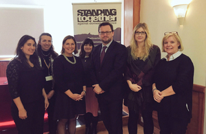 Rob Wilson visits Standing Together Against Domestic Violence