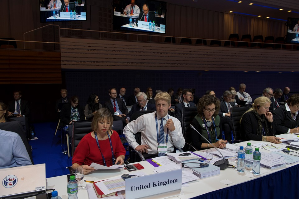 Science Minister Jo Johnson MP at the European Space Agency Council of Ministers