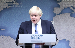 Foreign Secretary Boris Johnson, Chatham House