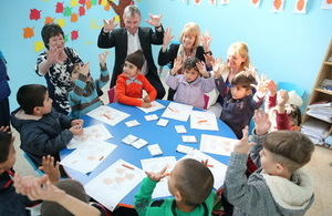 IDC UK parliamentary delegation at a school in Lebanon