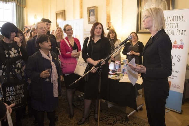 Small Business Minister Margot James meeting business owners at 10 Downing Street
