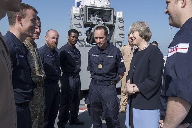 Prime Minister meeting HMS Ocean personnel