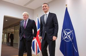 Foreign Secretary Boris Johnson & NATO Secretary General Jens Stoltenberg
