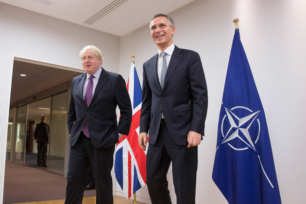 Foreign Secretary Boris Johnson & NATO Secretary General Jens Stoltenberg