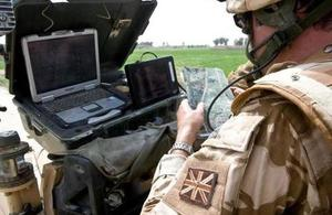 Soldier manning UAV