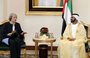 UK Prime Minister Theresa May with His Highness Sheikh Mohammed bin Rashid Al Maktoum, Vice President and Prime Minister and Ruler of Dubai. Photo credit: WAM