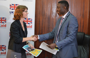 Head of DFID Uganda, Jennie Barugh and Dr Stephen Isabalija PS at MEMD