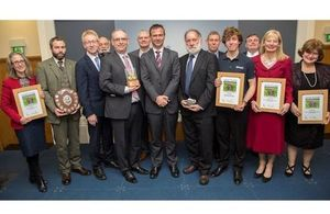 Winners and runners up with Graham Dalton and Mark Lancaster. MOD Crown Copyright. All rights reserved.