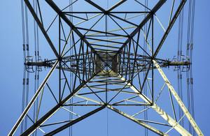 Close up of a pylon