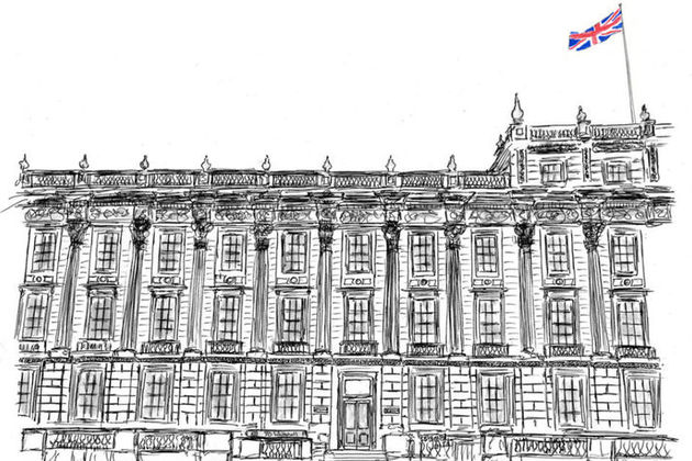 Line drawing of 70 Whitehall