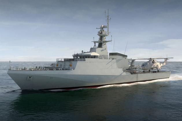 Minister Harriett Baldwin has cut steel on the next Royal Navy Offshore Patrol Vessel. Crown Copyright