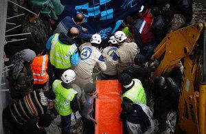 White Helmet volunteers in Syria