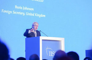 "Foreign Secretary speech: ""Britain is back East of Suez"""