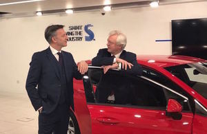 Ministers discuss Brexit with the automotive industry' within 'Department for Exiting the EU