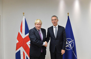 NATO Secretary General Jens Stoltenberg with Foreign Secretary Boris Johnson