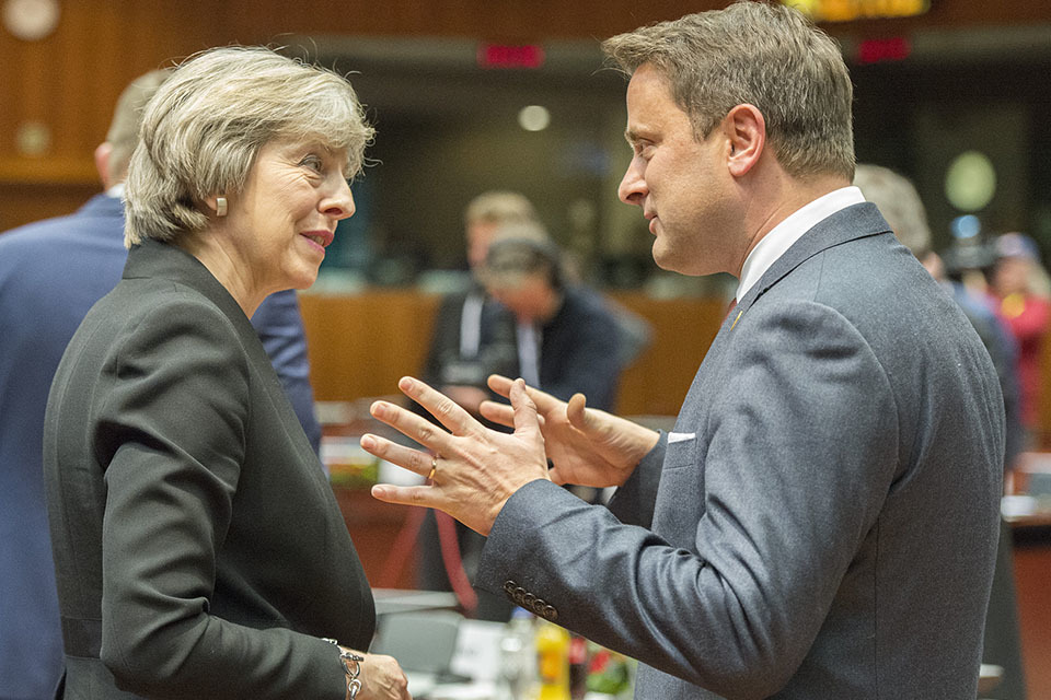 Prime Minister Theresa May at the December European Council
