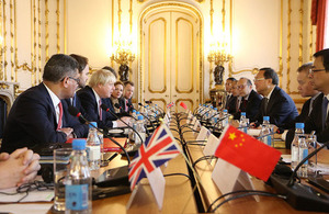 Foreign Secretary discusses foreign policy priorities and trade with China
