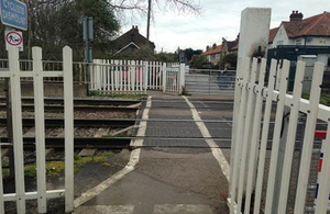 Image of Trinity Lane footpath crossing (courtesy of Network Rail)