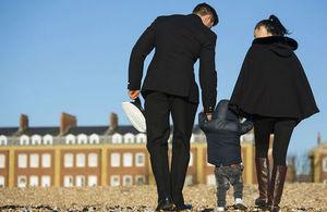 Naval officer, partner and child