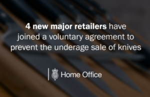 4 new retailers have joined a voluntary agreement to prevent the underage sale of knives