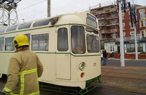 Image of the tram involved (courtesy of the Blackpool Gazette)
