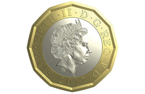 Computer generated image of new £1
