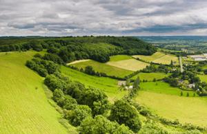 Farm high view
