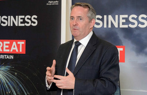 International Trade Secretary Liam Fox in Hong Kong