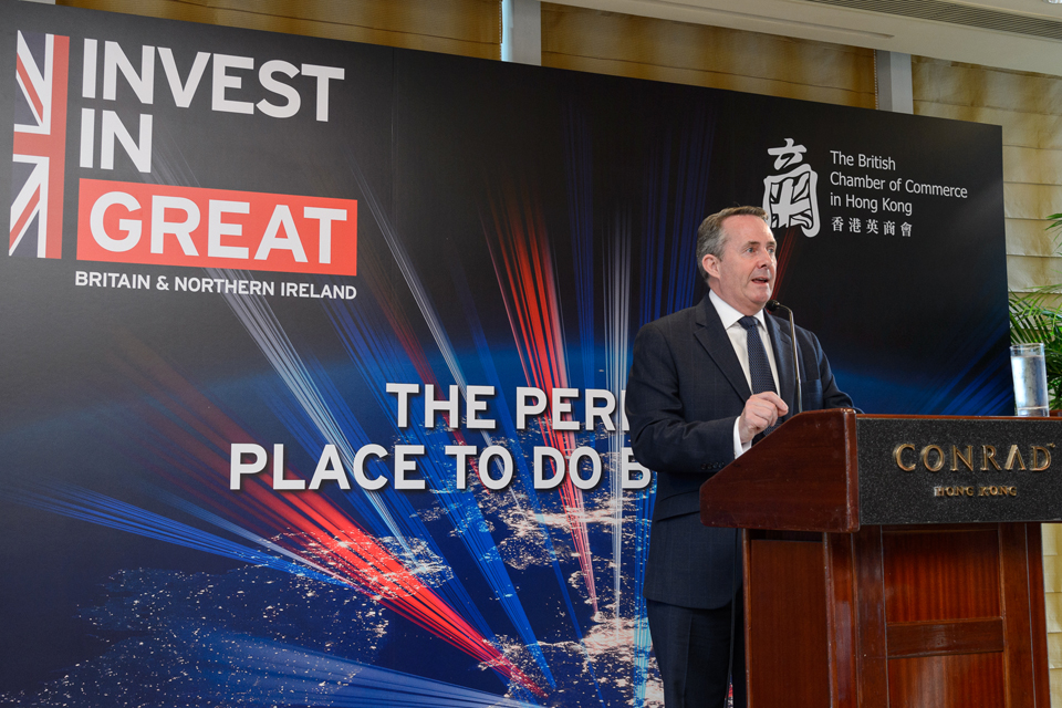 Liam Fox's speech to the British Chamber of Commerce in Hong Kong