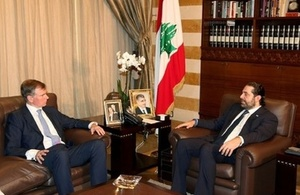 Ambassador Hugo Shorter with PM Saad Hariri