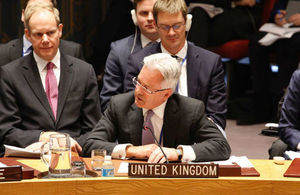 Alan Duncan at the UN