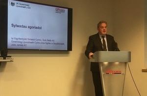 Wales Office Minister, Guto Bebb / Guto Bebb, Gweinidog Swyddfa Cymru.