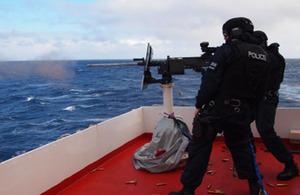 SEG officers on boat
