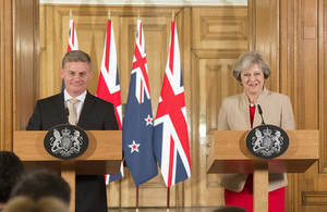 Prime Minister and Prime Minister English of New Zealand at their joint press conference