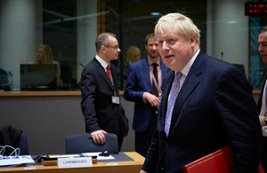 Foreign Secretary Boris Johnson attends Foreign Affairs Council, Brussels