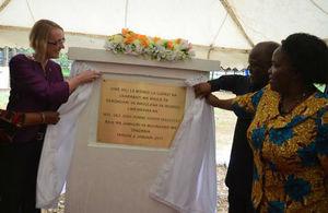Unveiling of the foundation stone at Ihungo, Kagera