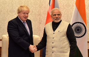 Foreign Secretary with Prime Minister of India