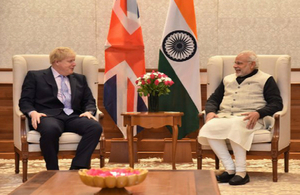 Boris johnson visit to India