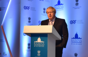 Boris Johnson, Raisina Dialogue - New Delhi