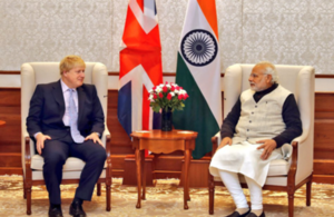 Foreign Secretary Boris Johnson and Prime Minister Narendra Modi