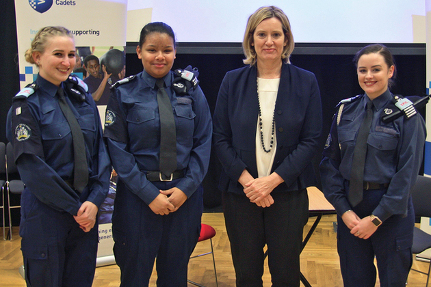 Home Secretary meeets with Greenwich volunteer police cadets
