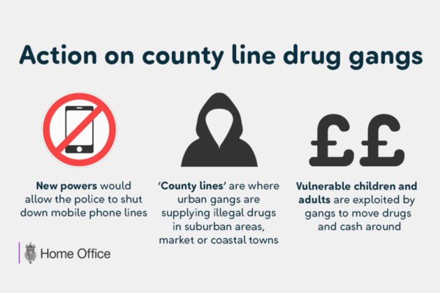 County line drugs gangs graphic