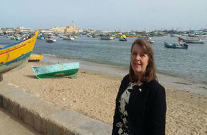 القنصل العام البريطانية الجديدية في الأسكندرية ويندي فريمان