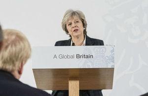 英国首相演讲:英国政府脱欧谈判目标