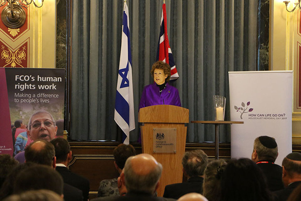 Read the 'Baroness Anelay speech at Holocaust Memorial Day event' article