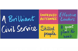 A brilliant Civil Service logo and four themes