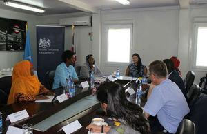 Secretary of State Priti Patel meeting with civil society in Somalia