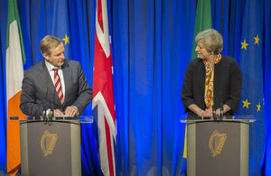 Prime Minister Theresa May with Taoiseach Enda Kenny