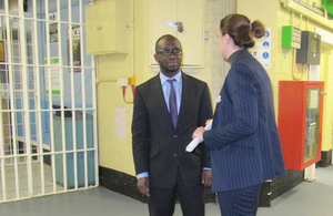 Minister Sam Gyimah and staff member
