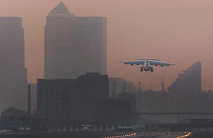 London City Airport.